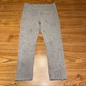 Fabletics Gray & Black Spotted Leggings Size XS